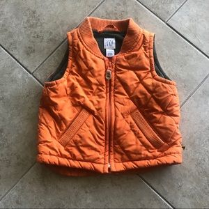 Baby Boy Orange Gap Vest 6-12 Months